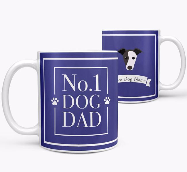 Personalised 'No.1 Dad' Mug from your Greyhound