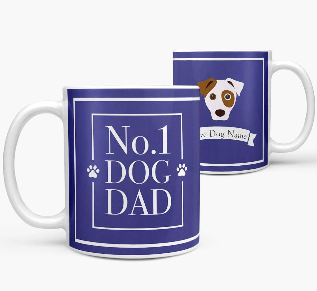Personalized 'No.1 Dad' Mug from your Dog both views