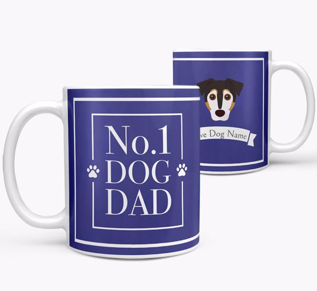 Personalised 'No.1 Dad' Mug from your Jack Russell Terrier