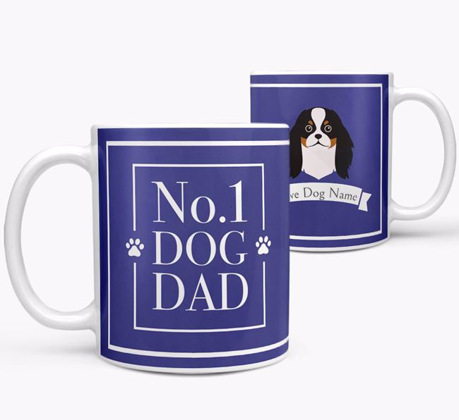 Personalised 'No.1 Dad' Mug from your Japanese Chin