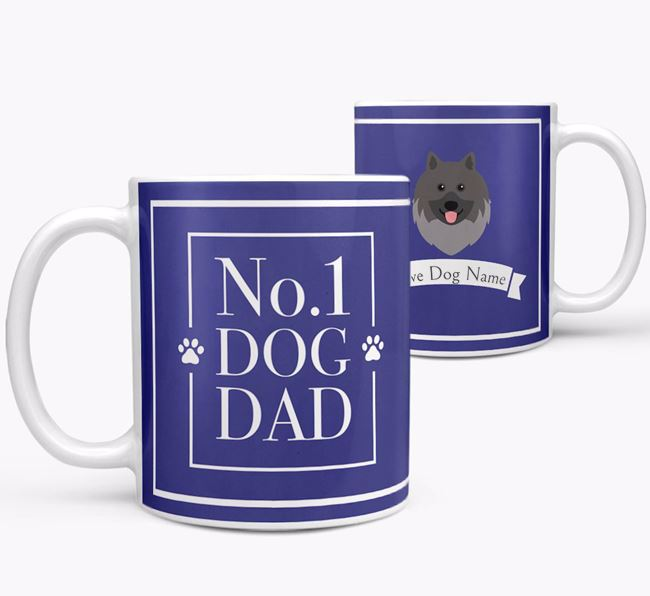 Personalised 'No.1 Dad' Mug from your Keeshond