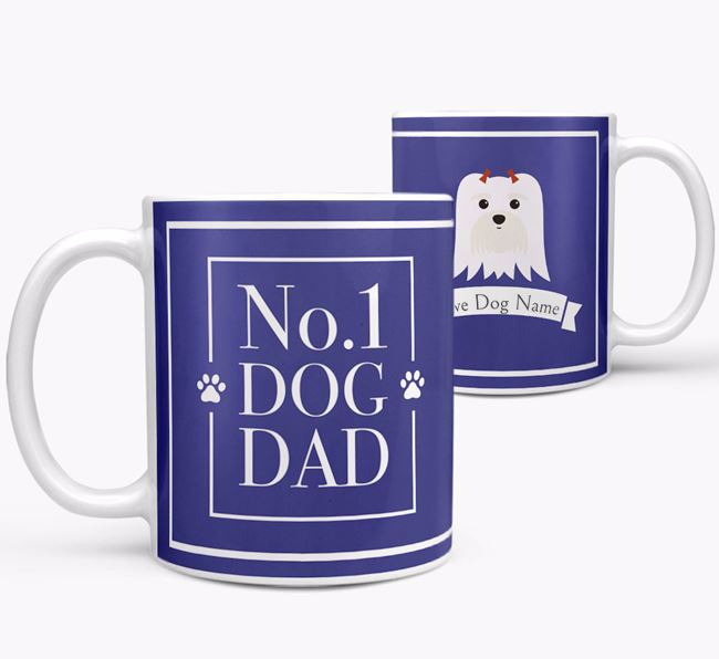 Personalised 'No.1 Dad' Mug from your Maltese