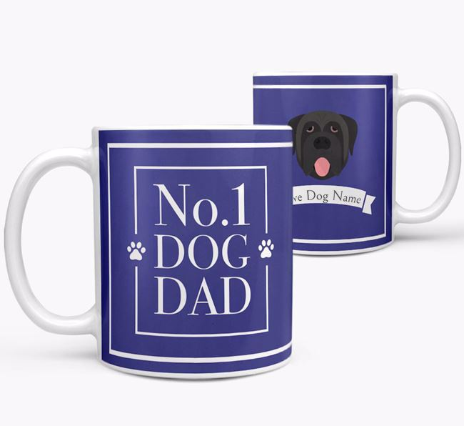 Personalised 'No.1 Dad' Mug from your Mastiff