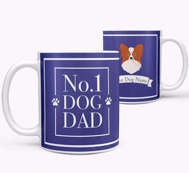 Personalised 'No.1 Dad' Mug from your Papillon