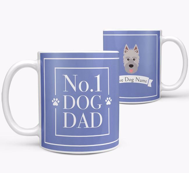 Personalised 'No.1 Dad' Mug from your Picardy Sheepdog