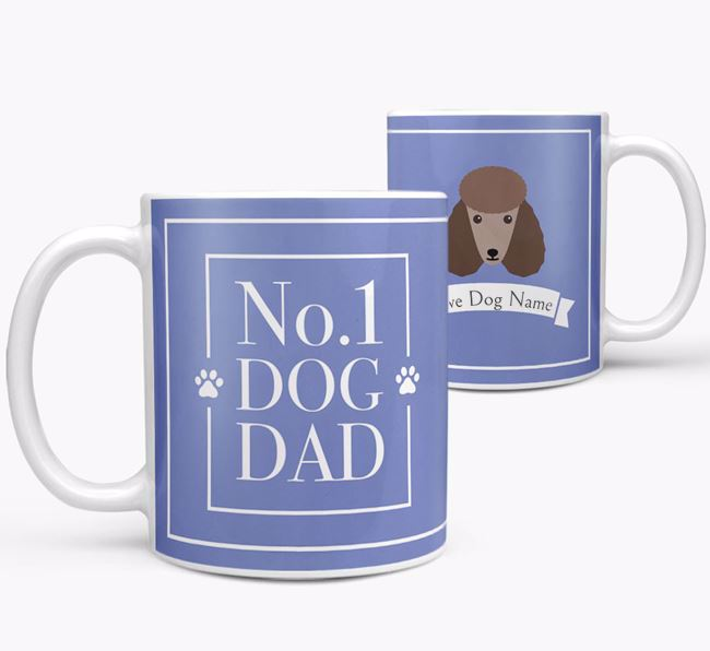 Personalised 'No.1 Dad' Mug from your Poodle