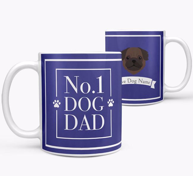 Personalised 'No.1 Dad' Mug from your Pug