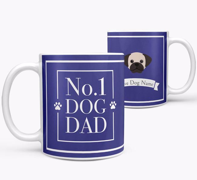 Personalised 'No.1 Dad' Mug from your Puggle
