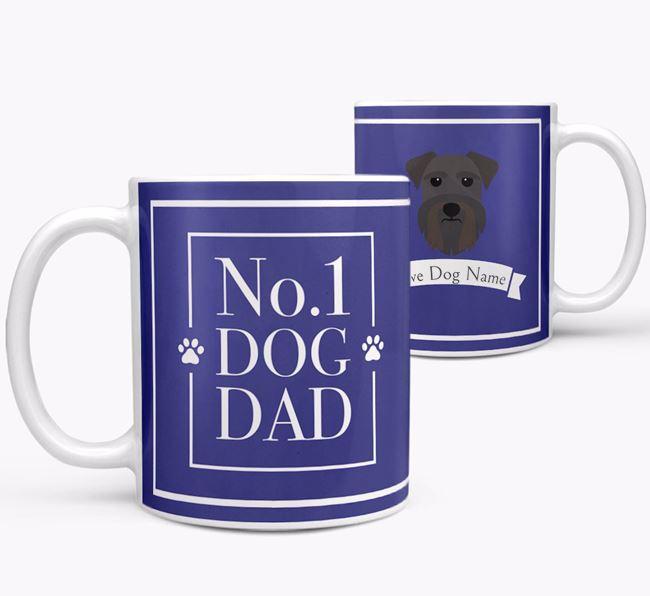 Personalised 'No.1 Dad' Mug from your Schnauzer