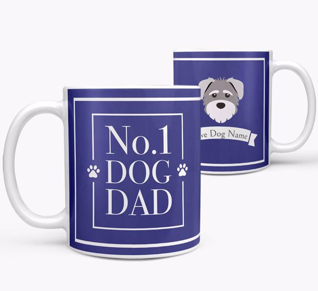 Personalised 'No.1 Dad' Mug from your Schnoodle