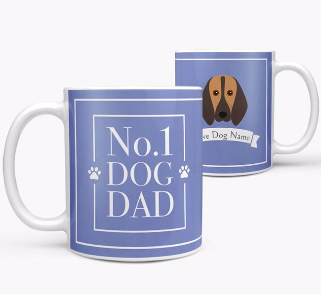 Personalised 'No.1 Dad' Mug from your Segugio Italiano