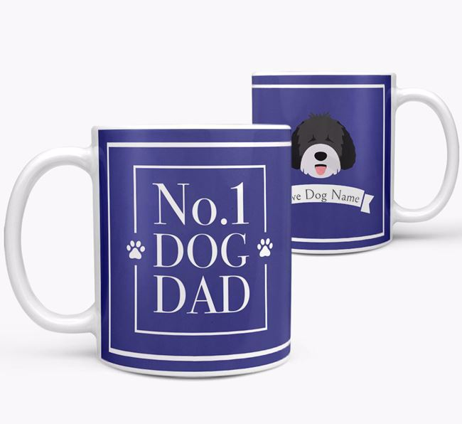 Personalised 'No.1 Dad' Mug from your Spanish Water Dog
