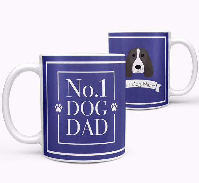 Personalised 'No.1 Dad' Mug from your Springer Spaniel