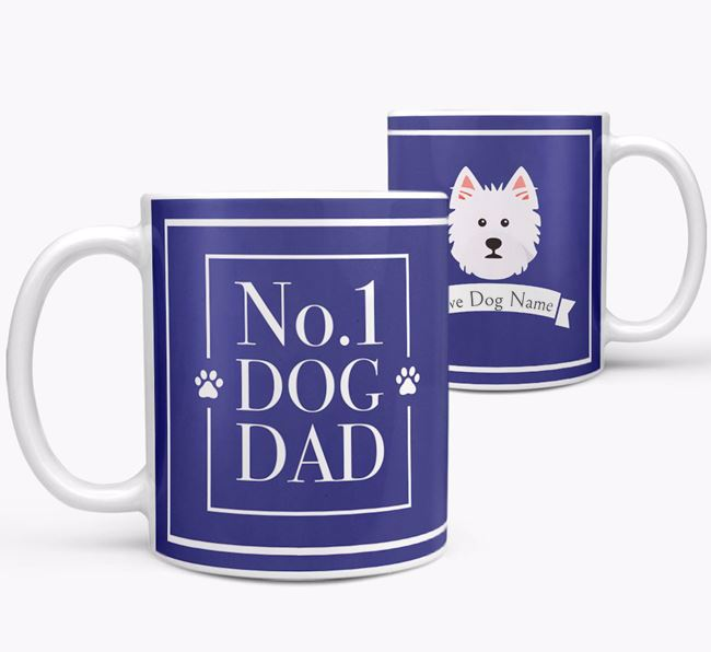 Personalised 'No.1 Dad' Mug from your West Highland White Terrier