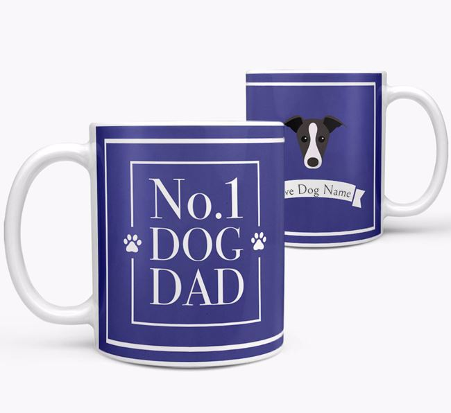 Personalised 'No.1 Dad' Mug from your Whippet