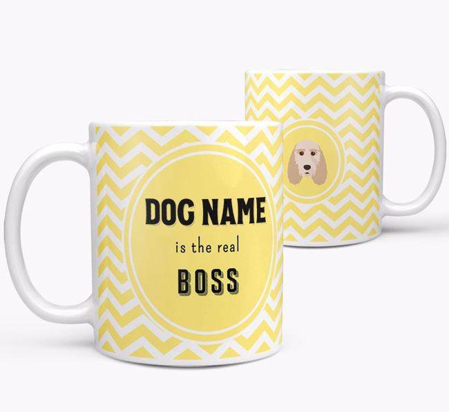 Personalised 'Real Boss' Mug with Grand Basset Griffon Vendeen Icon
