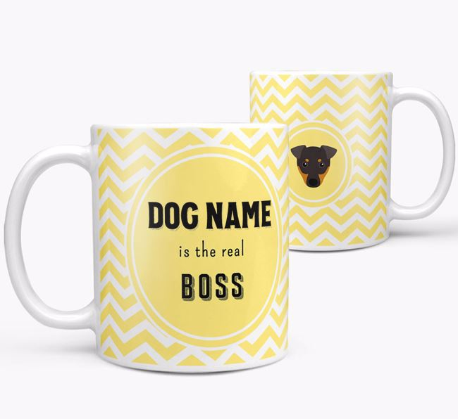 Personalised 'Real Boss' Mug with Dog Icon