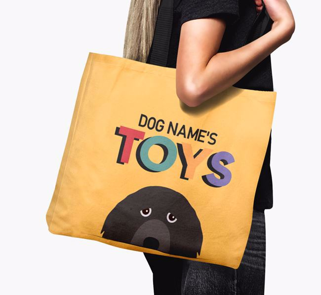 Personalised 'Toys' Canvas Bag for Your Dog