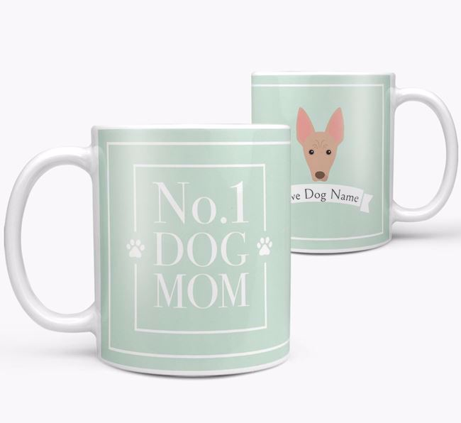 Personalised 'No.1 Mom' Mug from your American Hairless Terrier