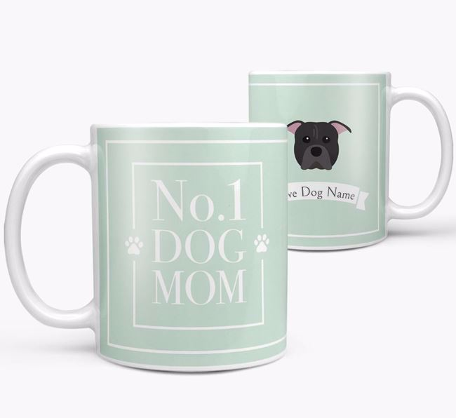 Personalised 'No.1 Mom' Mug from your American Pit Bull Terrier
