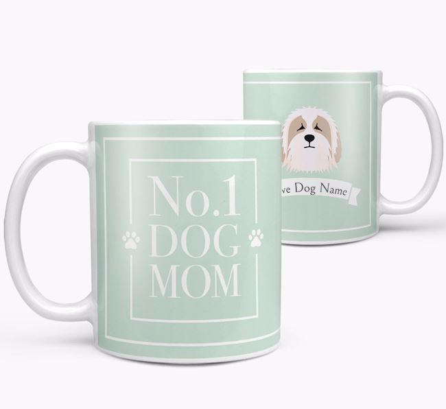 Personalised 'No.1 Mom' Mug from your Bearded Collie