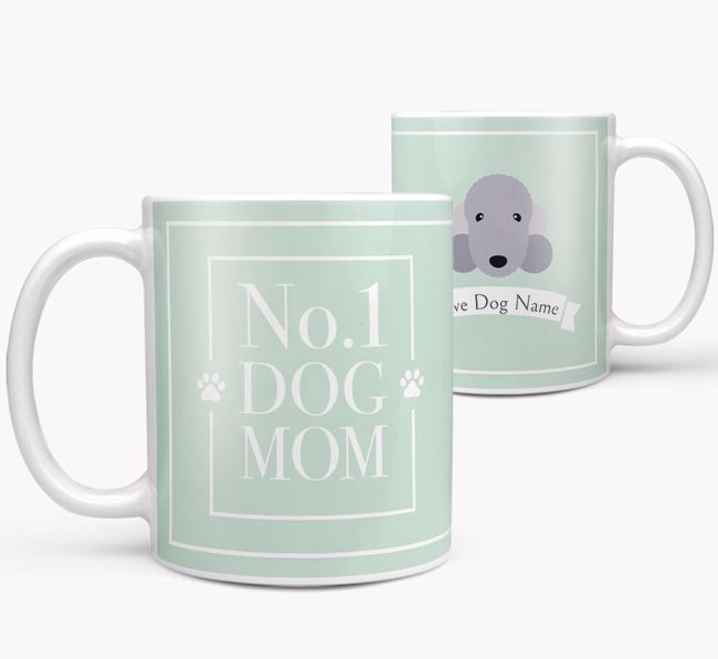 Personalised 'No.1 Mom' Mug from your Bedlington Terrier