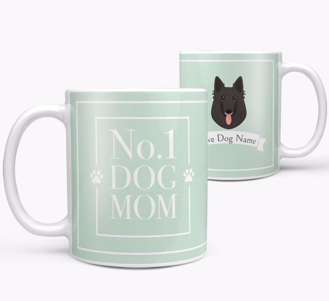 Personalised 'No.1 Mom' Mug from your Belgian Groenendael