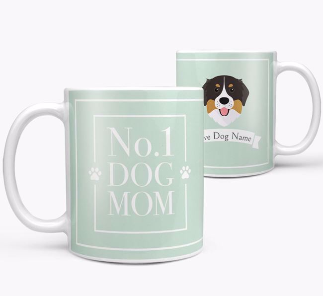 Personalised 'No.1 Mom' Mug from your Bernese Mountain Dog