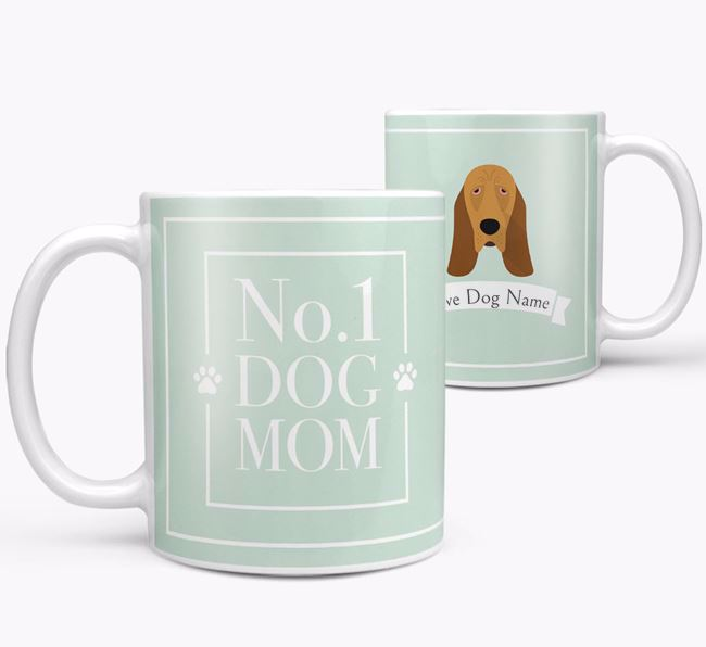 Personalised 'No.1 Mom' Mug from your Bloodhound