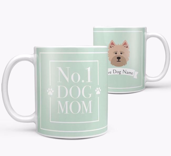 Personalised 'No.1 Mom' Mug from your Cairn Terrier