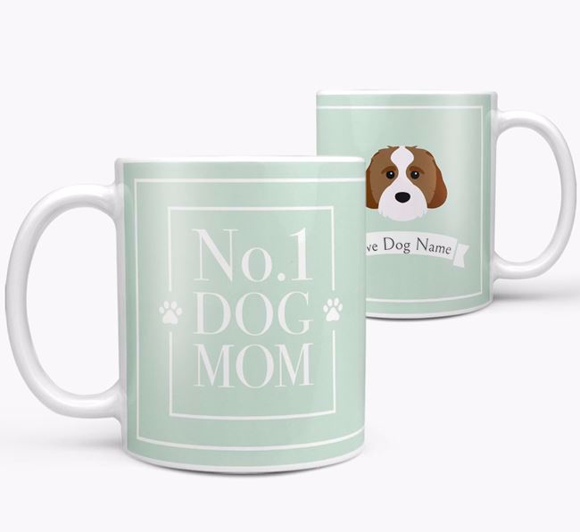 Personalised 'No.1 Mom' Mug from your Cavachon