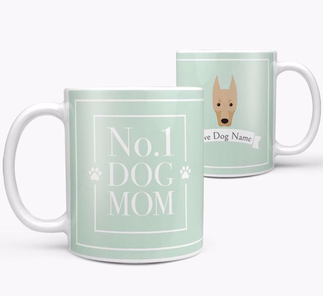Personalised 'No.1 Mom' Mug from your Dobermann