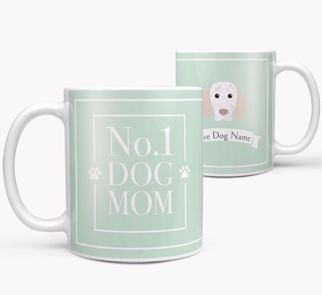 Personalised 'No.1 Mom' Mug from your English Setter