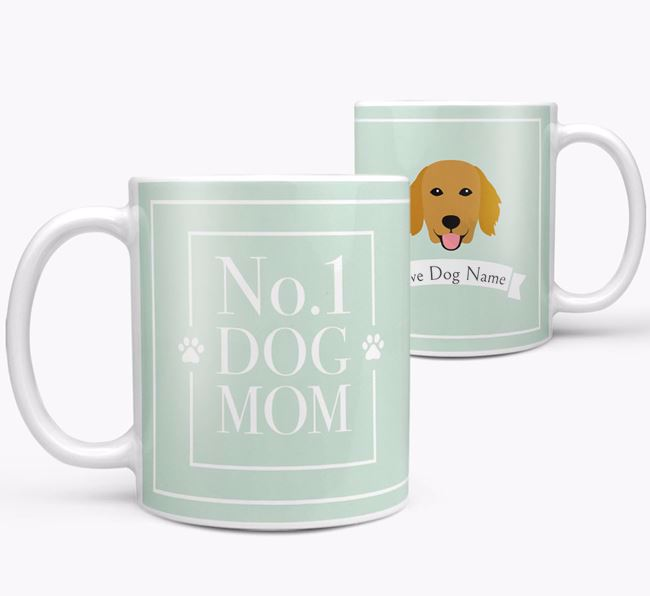 Personalised 'No.1 Mom' Mug from your Flat-Coated Retriever