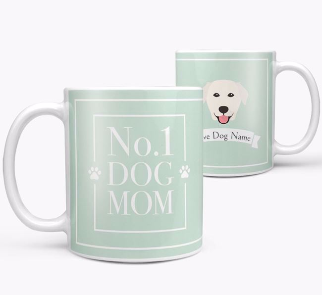 Personalised 'No.1 Mom' Mug from your Golden Labrador