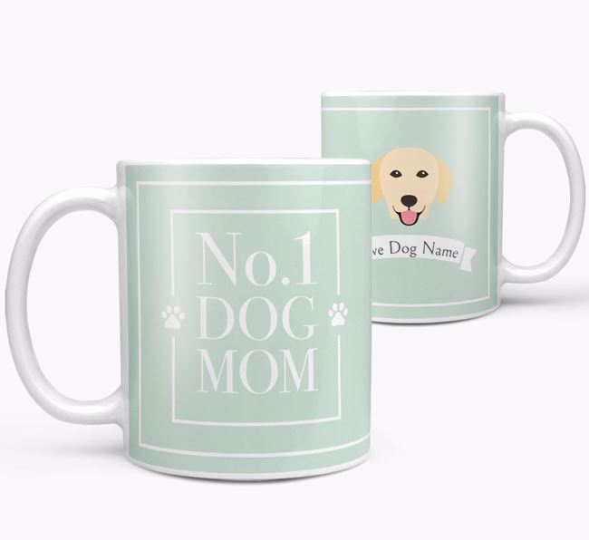 Personalised 'No.1 Mom' Mug from your Golden Retriever