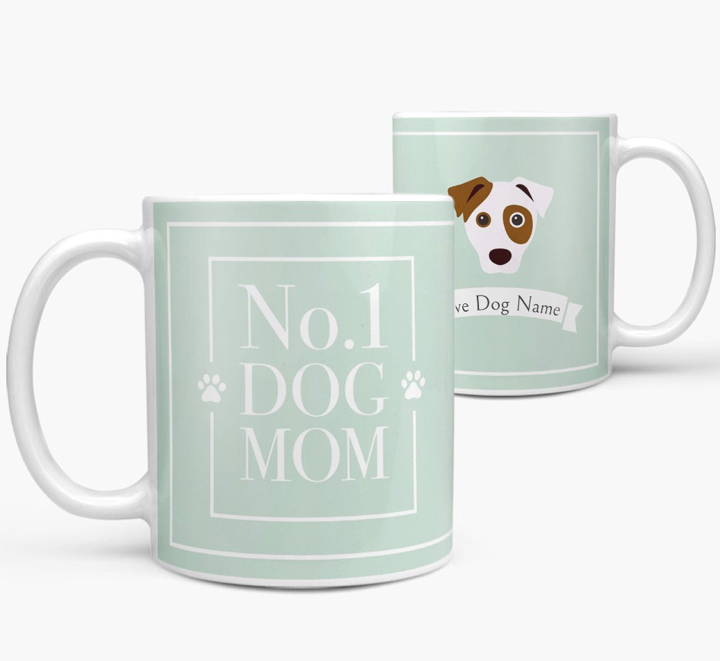 Personalized 'No.1 Mum' Mug from your Dog both views