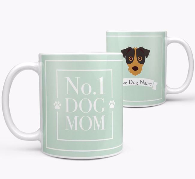 Personalised 'No.1 Mom' Mug from your Jack Russell Terrier