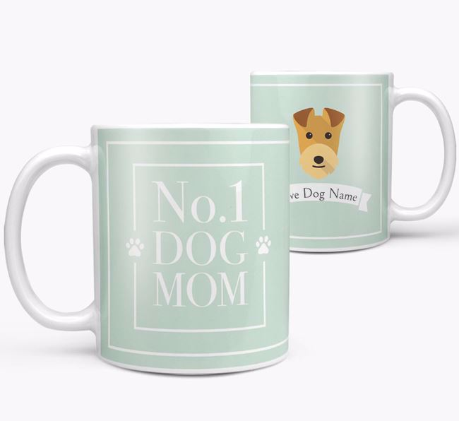Personalised 'No.1 Mom' Mug from your Lakeland Terrier