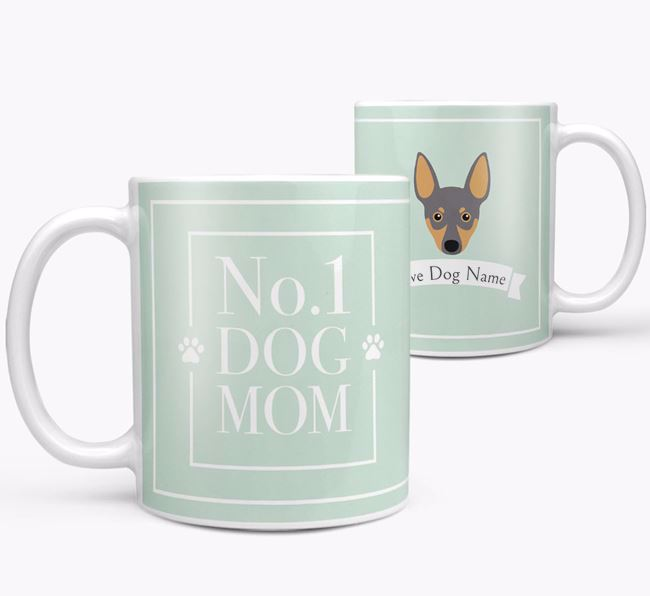Personalised 'No.1 Mom' Mug from your Miniature Pinscher