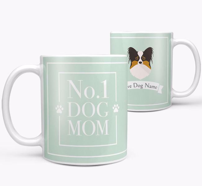 Personalised 'No.1 Mom' Mug from your Papillon