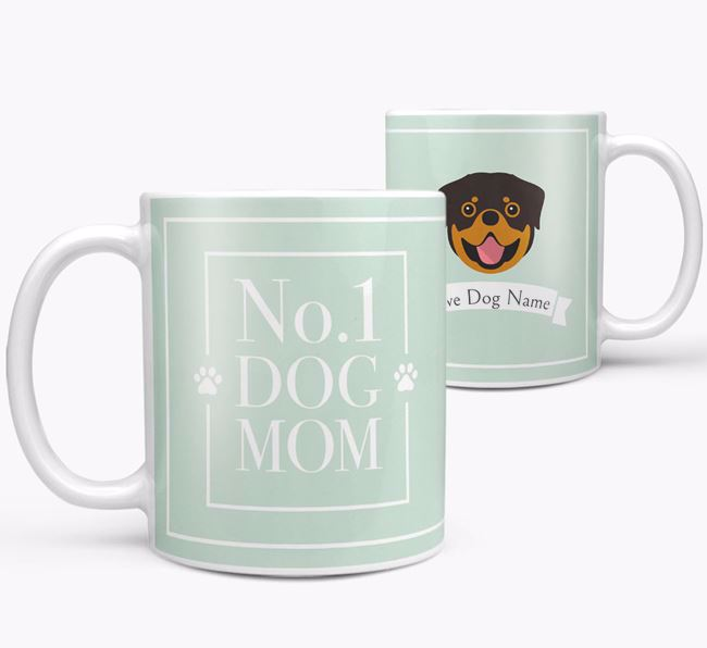 Personalised 'No.1 Mom' Mug from your Dog