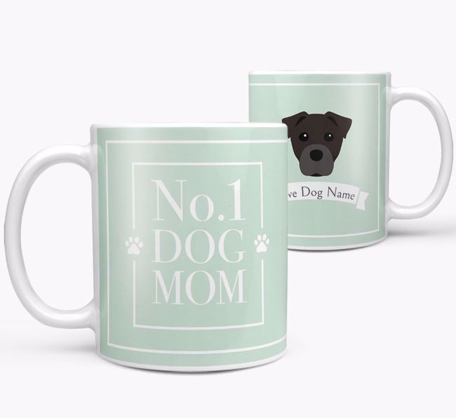 Personalised 'No.1 Mom' Mug from your Staffy Jack