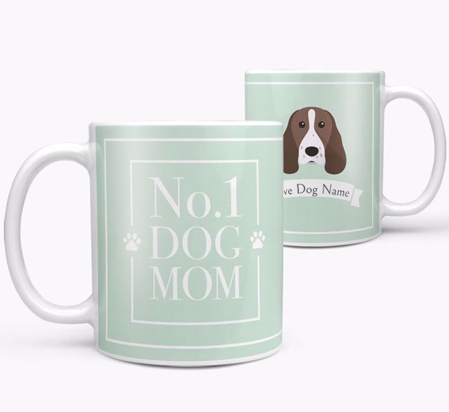 Personalised 'No.1 Mom' Mug from your Welsh Springer Spaniel