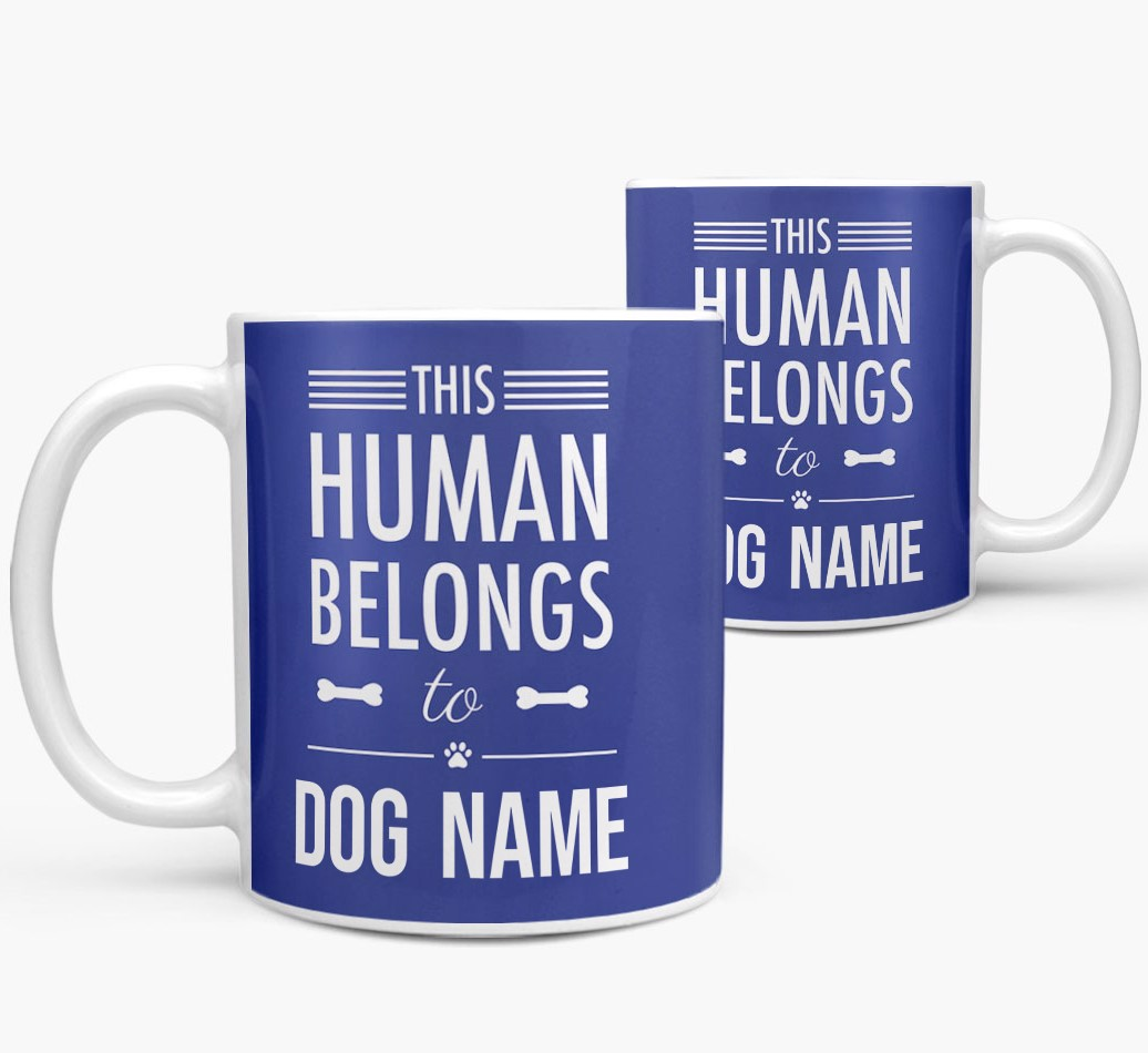 Personalized 'This Person Belongs To' Mug both views