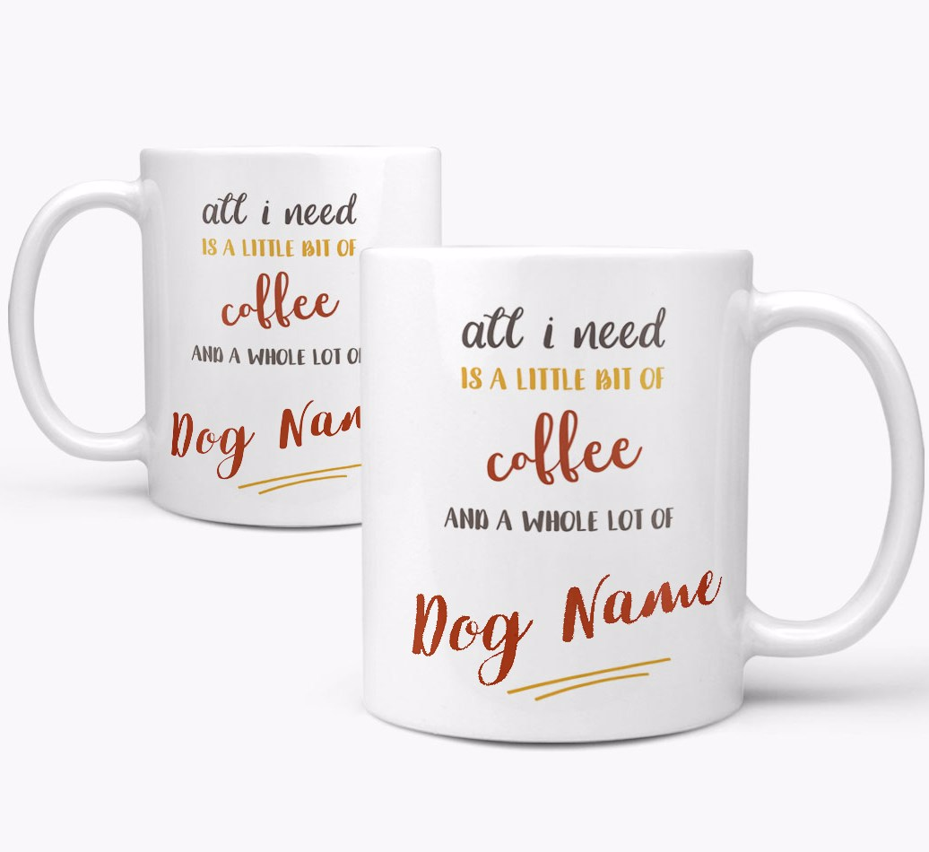 Personalised 'Whole Lot of {dogsName}' Mug both views