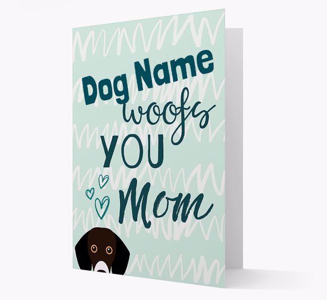 Personalized Bassador 'woofs you Mum' Card