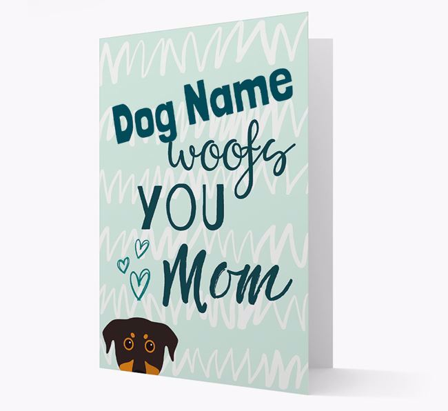 Personalized Beauceron 'woofs you Mum' Card