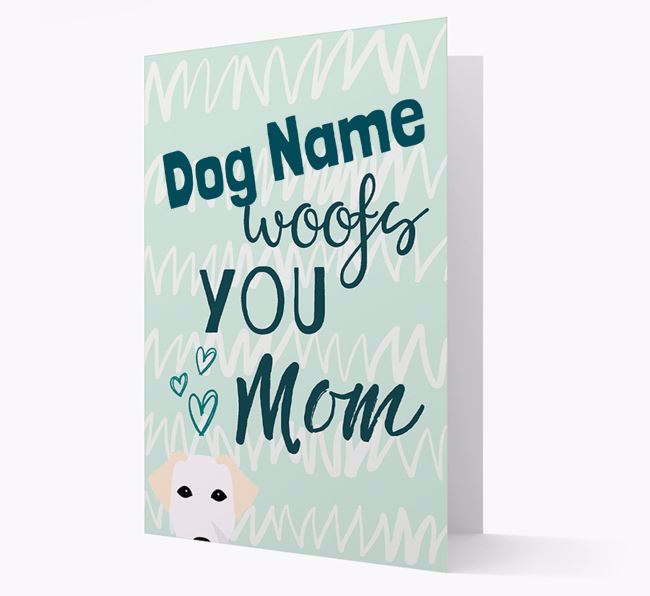 Personalized Borador 'woofs you Mum' Card