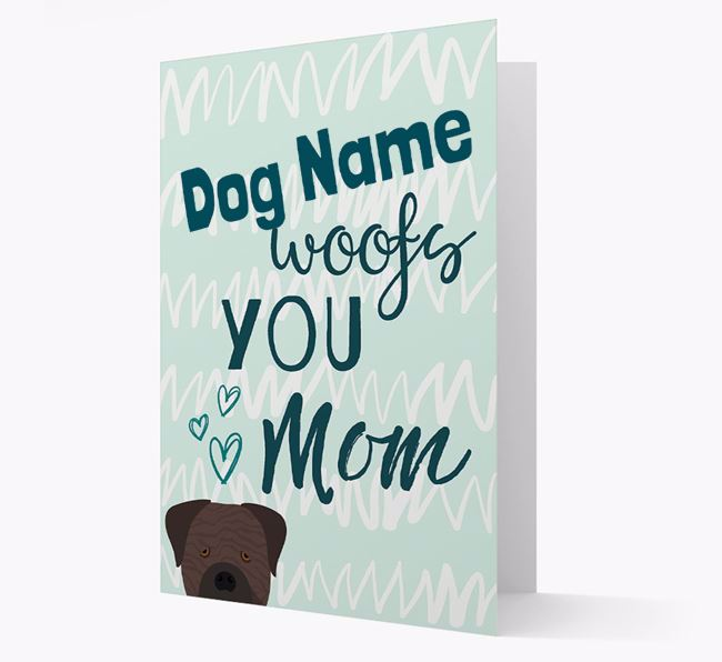 Personalized Cane Corso Italiano 'woofs you Mum' Card